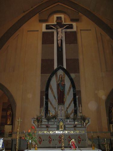MASSANGULO - interior da igreja da missão