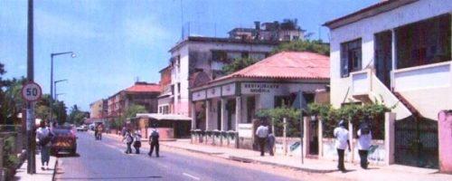 MAPUTO - bairro da Malhangalene e rua do porto