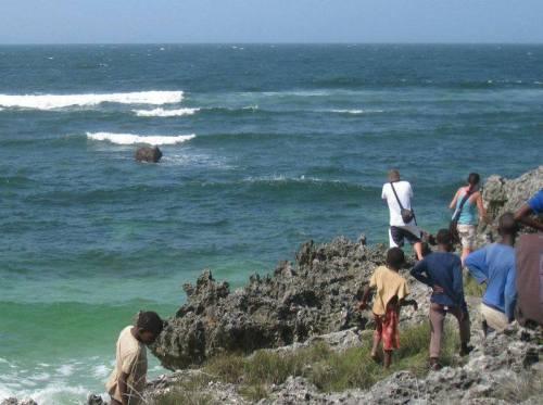 NUARRO (PROVÍNCIA DE NAMPULA) - elefante a banhos na baía