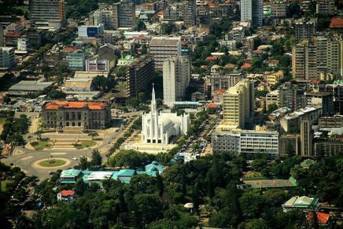 MAPUTO - vista aérea de parte da cidade