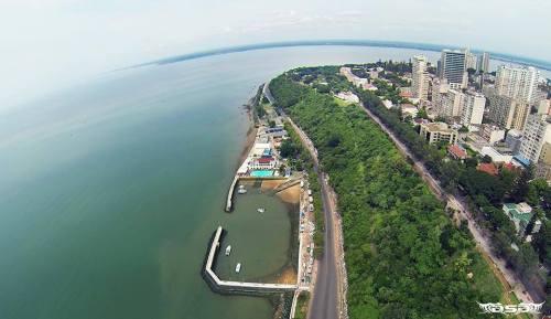 MAPUTO - vista aérea da zona do clube naval