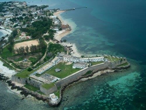 ILHA DE MOÇAMBIQUE - vista aérea da zona da fortaleza