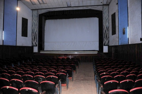 A sala de cinema do Gurué, recentemente.