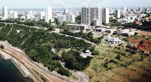 MAPUTO - vista aérea das barreiras (zona do liceu e hotel)